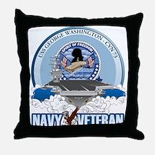 Navy Veteran CVN-73 Throw Pillow