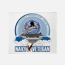 Navy Veteran CVN-73 Throw Blanket