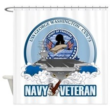 Navy Veteran CVN-73 Shower Curtain