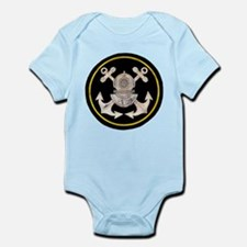 3-Bolt Dive Helmet and Anchors Infant Bodysuit