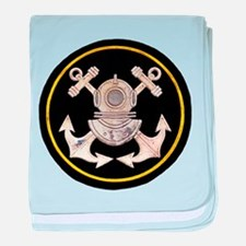 3-Bolt Dive Helmet and Anchors baby blanket