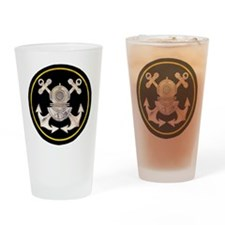 3-Bolt Dive Helmet and Anchors Drinking Glass
