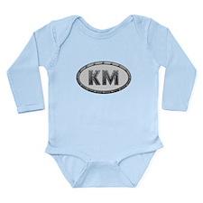 KM Metal Long Sleeve Infant Bodysuit