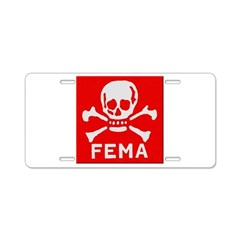 FEMA Aluminum License Plate