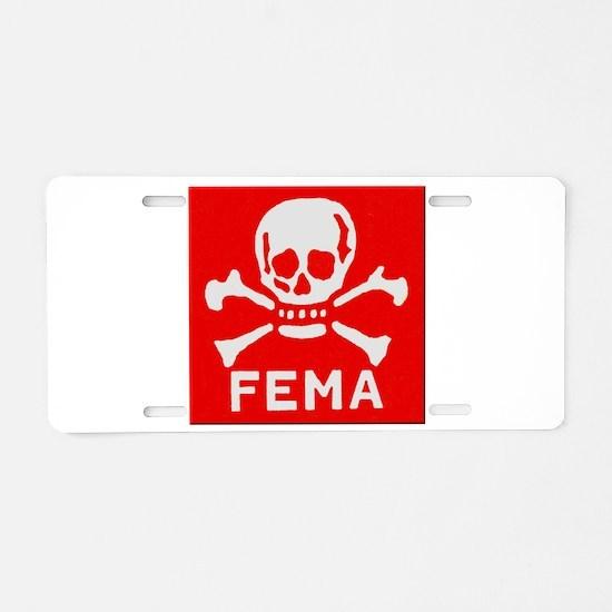 FEMA Aluminum License Plate