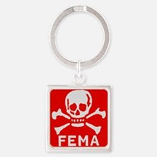 FEMA Square Keychain