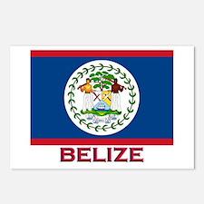 Belize Flag Stuff Postcards (Package of 8)