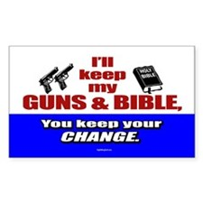 I'll Keep My Guns and Bible Oval Decal