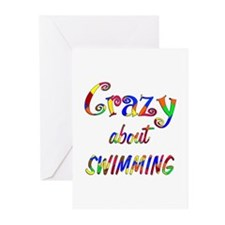 Crazy About Swimming Greeting Cards (Pk of 20)