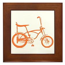 Retro Orange Banana Seat Bike Framed Tile