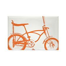 Retro Orange Banana Seat Bike Rectangle Magnet