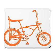 Retro Orange Banana Seat Bike Mousepad