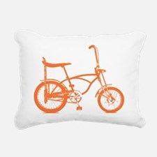Retro Orange Banana Seat Bike Rectangular Canvas P