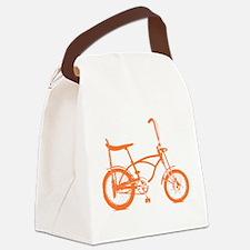 Retro Orange Banana Seat Bike Canvas Lunch Bag
