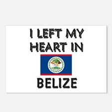 I Left My Heart In Belize Postcards (Package of 8)