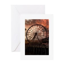 The Seattle Pier in Red Greeting Card