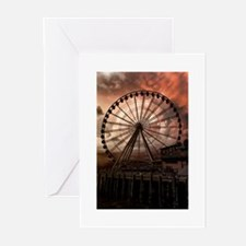 The Seattle Pier in Red Greeting Cards (Pk of 10)