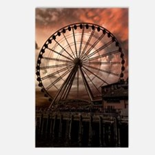 The Seattle Pier in Red Postcards (Package of 8)