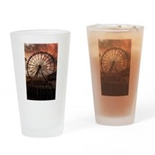 The Seattle Pier in Red Drinking Glass