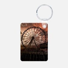 The Seattle Pier in Red Keychains