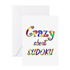 Crazy About Sudoku Greeting Card