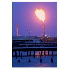 Gas flare Canvas Art