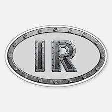 IR Metal Sticker (Oval)