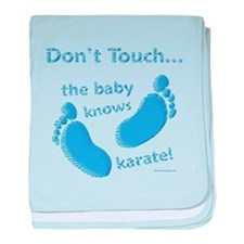 Karate Baby Blue baby blanket