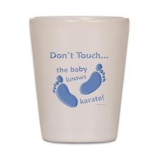Karate Baby Blue Shot Glass