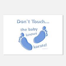 Karate Baby Blue Postcards (Package of 8)