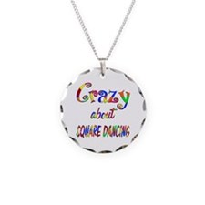 Crazy About Square Dancing Necklace