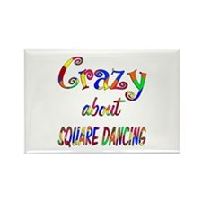 Crazy About Square Dancing Rectangle Magnet