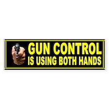 GUN BUMPER Bumper Sticker