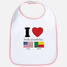 USA-BENIN Bib