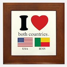 USA-BENIN Framed Tile