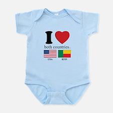 USA-BENIN Infant Bodysuit