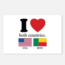 USA-BENIN Postcards (Package of 8)