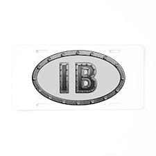 IB Metal Aluminum License Plate