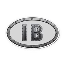IB Metal Oval Car Magnet