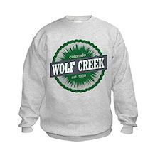 Wolf Creek Ski Resort Colorado Green Sweatshirt