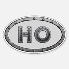 HO Metal Sticker (Oval)