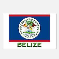 Belize Flag Gear Postcards (Package of 8)