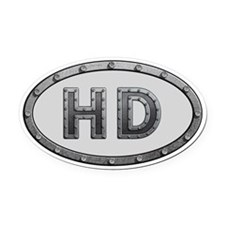 HD Metal Oval Car Magnet