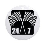 24/7 Racing Ornament (Round)
