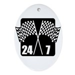 24/7 Racing Oval Ornament