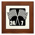 24/7 Racing Framed Tile