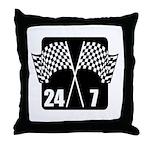 24/7 Racing Throw Pillow