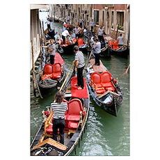 Gondolas, Venice, Italy Poster