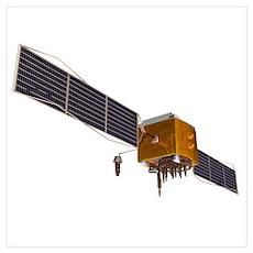GPS satellite, artwork Poster