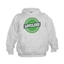 Loveland Ski Resort Colorado Lime Hoodie